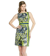 Adrianna Papell® Border Striped Printed Sundress