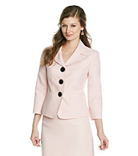 Kasper® Plus Size Tweed Notch Collar Jacket
