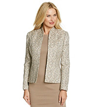 Kasper® Plus Size Flyaway Tweed Jacket