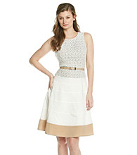 Anne Klein® Terrace Lace Colorblock Dress