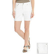 DKNY JEANS® Colored Denim Rolled Shorts
