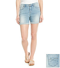 DKNY JEANS® Rolled Denim Shorts