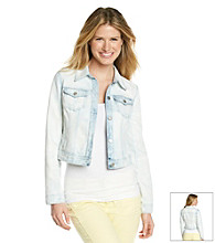 DKNY JEANS® Bleached White Denim Jacket