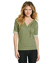 Marc New York Performance Striped Loop Terry Sweatshirt