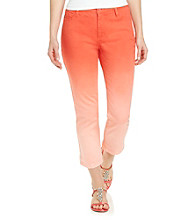 Jones New York Signature® Five Pocket Skinny Ombre Capri