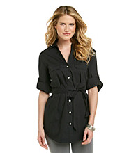 Rafaella® Self-Tie Tunic Shirt