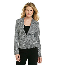 Rafaella® Black And White Multi Floral Jacket