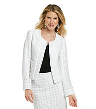Rafaella® White Eyelash Tweed Jacket