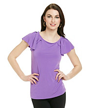 Anne Klein® Flutter Sleeve Top