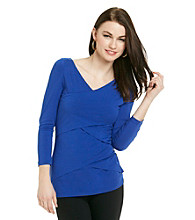 Vince Camuto® Deep V-Neck Bandage Top