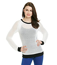 MICHAEL Michael Kors® Color Block Mesh Sweater