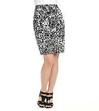 Evan-Picone® Printed Sateen Pencil Skirt