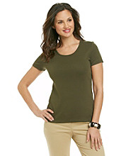 Jones New York Sport® Petites' Solid Scoop Neck Tee