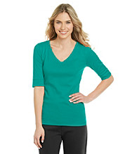 Jones New York Sport® Petites' V-Neck Tee