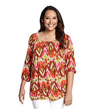 Jones New York Sport® Plus Size Splitneck Top