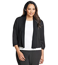 Calvin Klein Plus Size Solid Color Shrug