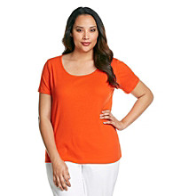 Jones New York Sport® Plus Size Scoop Neck Tee