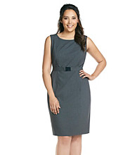 Calvin Klein Plus Size Belted Sheath Dress