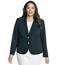 Calvin Klein Plus Size Two Button Jacket