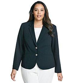 Calvin Klein Plus Size Two Button Jacket