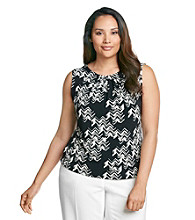 Calvin Klein Plus Size Printed Pleated Cami