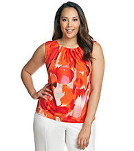 Calvin Klein Plus Size Multi Printed Pleated Cami