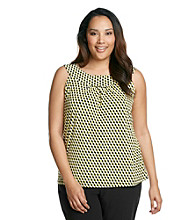 Calvin Klein Plus Size Pleated Printed Cami