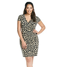 Jones New York Signature® Plus Size Faux Wrap Dress