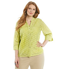 Ruby Rd.® Plus Size Buttonfront Lace Shirt