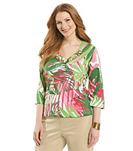 Ruby Rd.® Plus Size Tropical Print Top