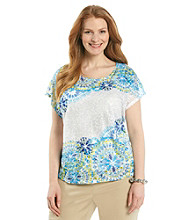 Ruby Rd.® Plus Size Printed Burnout Top