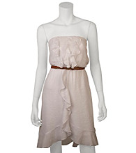 A. Byer Juniors' Belted Tube Dress