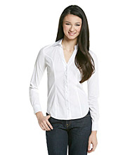 XOXO® Juniors' Fitted Button Down Shirt