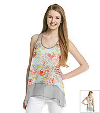 Sequin Hearts® Juniors' Floral Print Cami