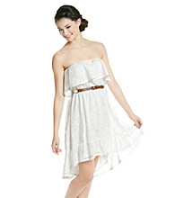 Sequin Hearts® Juniors' Strapless Crochet Dress
