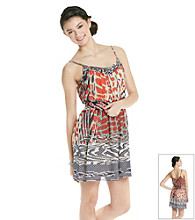 Chord® Juniors' Mix Media Print Dress