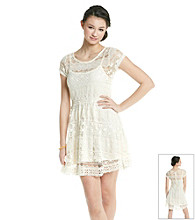 Chord® Juniors' All Over Lace Dress