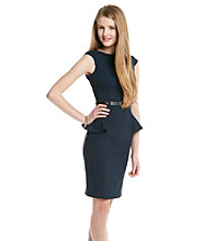 XOXO® Juniors' Classic Peplum Belted Dress