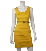 A. Byer Juniors' Tiered Belted Dress
