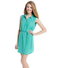 not forever Juniors' Belted Shirt Dress