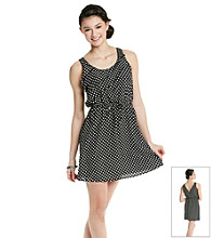 Belle du Jour Juniors' Polka Dot Ruffle Detail Dress