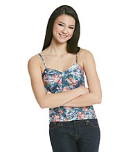 w.f. Juniors' Floral Denim Bustier