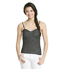 w.f. Juniors' Polka Dot Denim Bustier