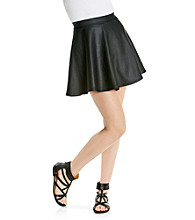 w.f. Juniors' Faux Leather Circle Skirt
