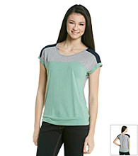 Pink Rose® Juniors' Banded Bottom Colorblock Tee