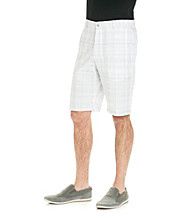 Calvin Klein Men's Pedal Grey Large Tonal Plaid Short