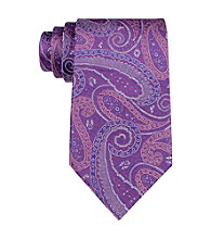 Kenneth Roberts Platinum® Men's Paisley Lilac Fashion Silk Tie
