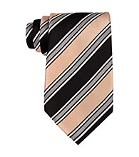 Kenneth Roberts Platinum® Men's Taupe Metro Stripe Silk Tie