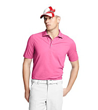 Izod® Men's Shocking Pink Solid Oxford Pique Polo