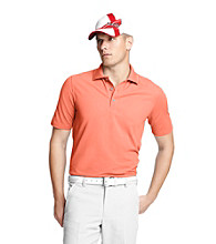 Izod® Men's Living Coral Solid Oxford Pique Polo